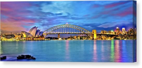 Sydney Skyline Canvas Print - Blue Harbour by Az Jackson