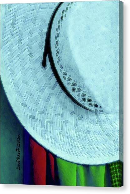 Blue Hat Painting Canvas Print