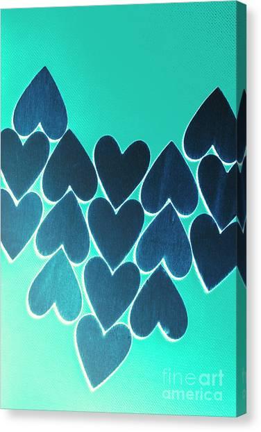 Heart Shape Canvas Print - Blue Heart Collective by Jorgo Photography - Wall Art Gallery