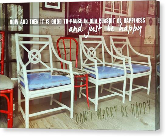Blue Heaven Quote Canvas Print by JAMART Photography