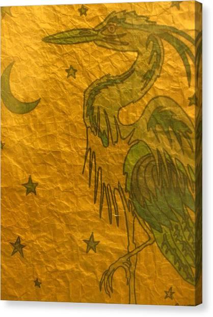 Blue Heron Canvas Print by Austen Brauker