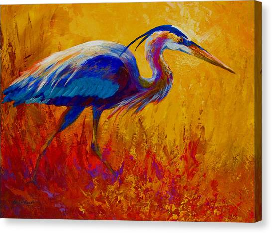 Heron Canvas Print - Blue Heron by Marion Rose