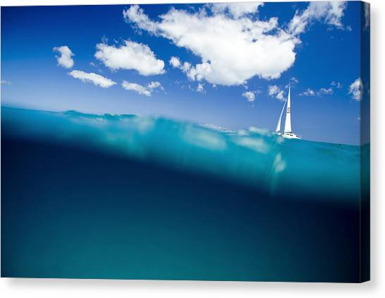 Catamarans Canvas Print - Blue Hill by Sean Davey