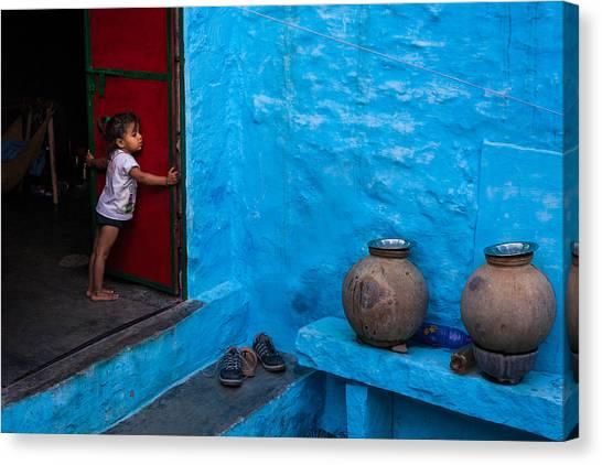 Blue Home Canvas Print