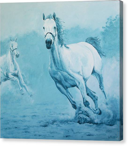 Blue Horses Canvas Print by Willem Arendsz