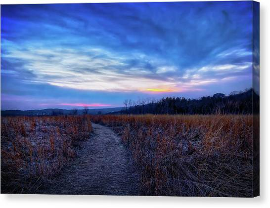 The Nature Center Canvas Print - Blue Hour After Sunset At Retzer Nature Center by Jennifer Rondinelli Reilly - Fine Art Photography