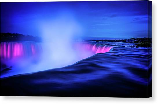 Blue Hour At Niagara Falls Canvas Print