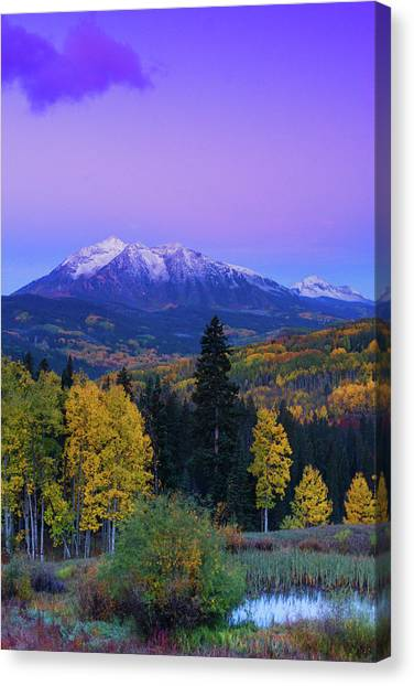 Blue Hour Over East Beckwith Canvas Print
