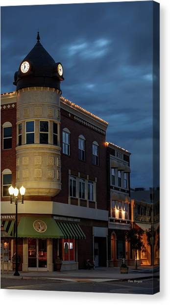 Blue Hour Over The Clock Tower Canvas Print