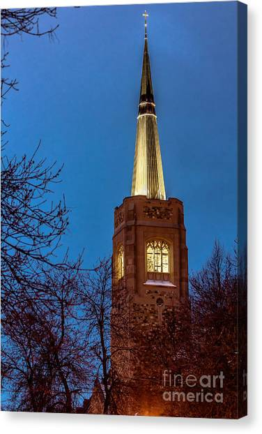 Blue Hour Steeple Canvas Print