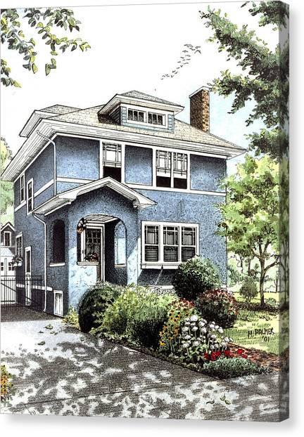 Blue House Canvas Print