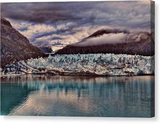 Margerie Glacier Canvas Print - Blue Ice by John Dauer
