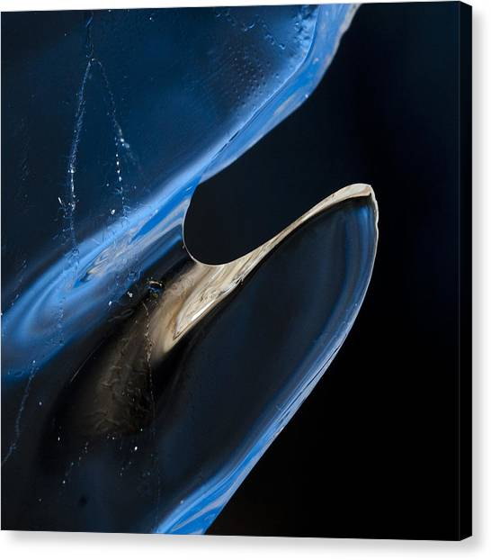 Space Ships Canvas Print - Blue Ice by Laurie McGinley