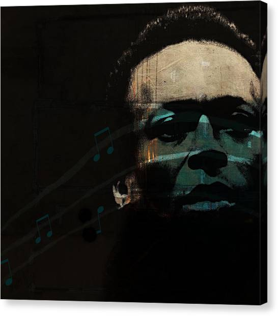 Miles Davis Canvas Print - Blue In Green - Retro Series by Paul Lovering