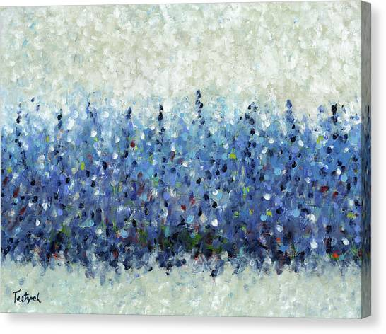 Blue Intensity Canvas Print