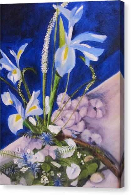 Blue Iris Canvas Print by Gloria Condon