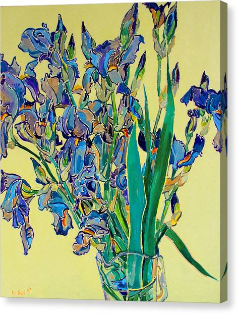 Blue Irises Canvas Print by Vitali Komarov