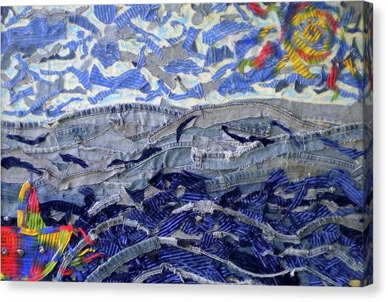Blue Jean Beach Canvas Print