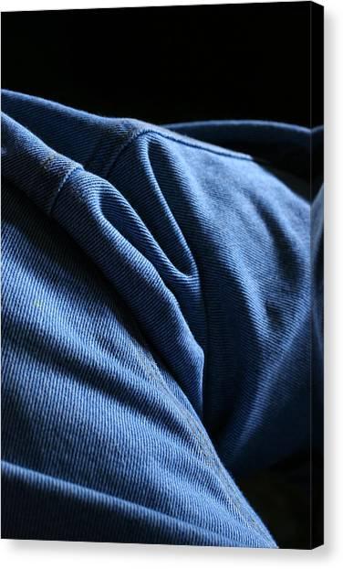 Blue Jeans 0261 Canvas Print by Steve Augustin