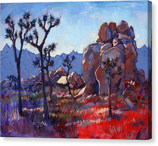 Mojave Desert Canvas Print - Blue Joshua Rock by Erin Hanson