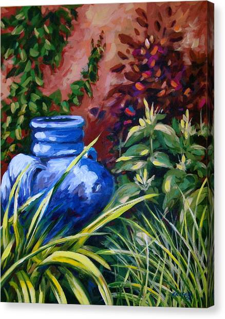Blue Jug Canvas Print