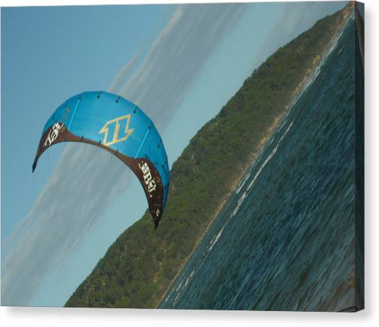 Blue Kite Canvas Print by Adrianne Wood