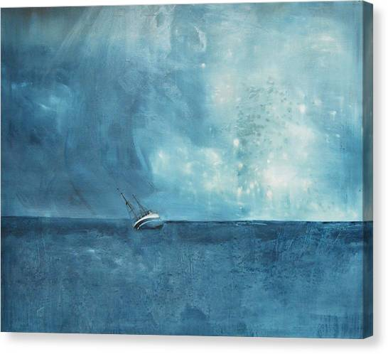 Oil On Canvas Print - Blue by Krista Bros