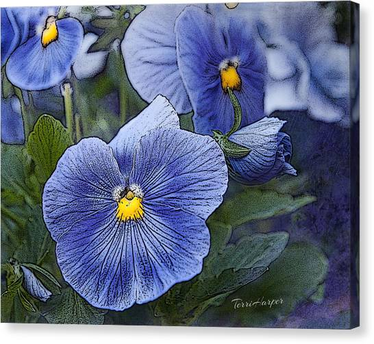 Blue Ladies Canvas Print