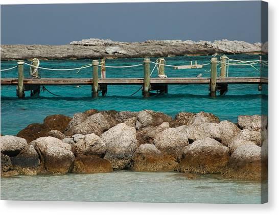 Blue Lagoon Canvas Print by Lori Mellen-Pagliaro