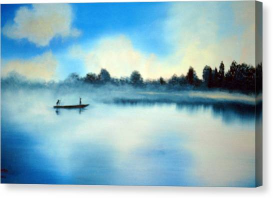 Blue Lagoon Canvas Print by SueEllen Cowan