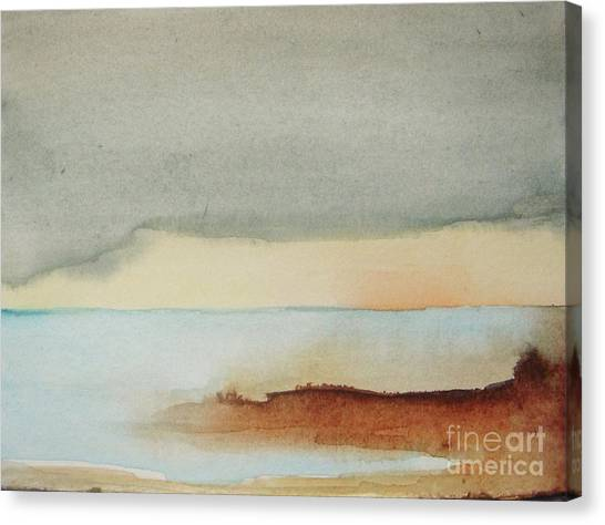 Abstract Seascape Canvas Print - Blue Lagoon by Vesna Antic