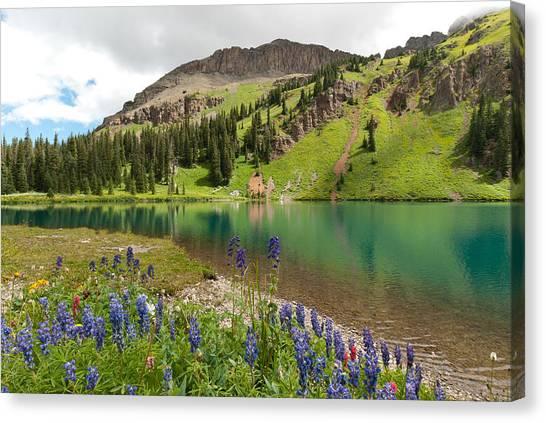 Blue Lakes Summer Splendor Canvas Print