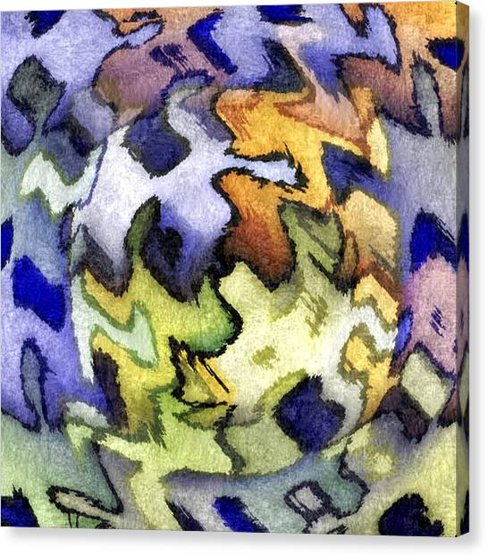 Blue Leopard Skin Canvas Print by Terry Mulligan
