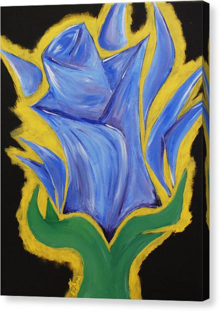 Blue Life Canvas Print by Kayon Cox