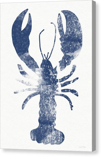 Blue Lobster- Art By Linda Woods Canvas Print