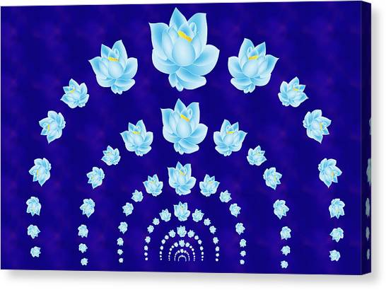 Blue Lotus Tunnel Canvas Print