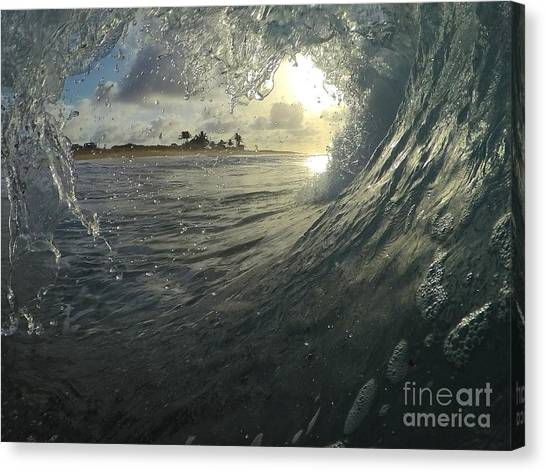 Bodyboard Canvas Print - Blue Love  by Benen  Weir