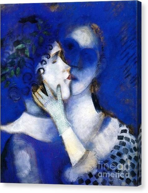 Blue Lovers Canvas Print