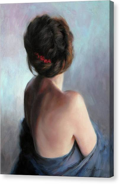 Back Canvas Print - Blue Maiden by Anna Rose Bain