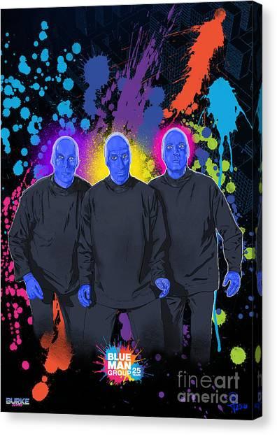 Blue Man Group's 25th Anniversary Canvas Print by Joseph Burke