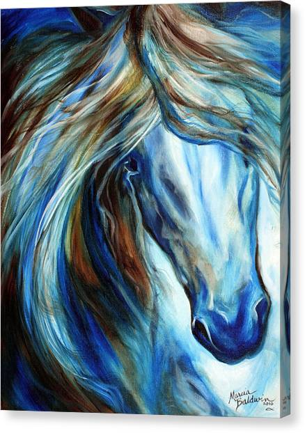 Blue Mane Event Equine Abstract Canvas Print