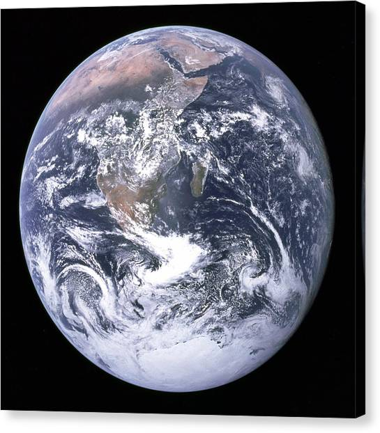 Blue Marble - Image Of The Earth From Apollo 17 Canvas Print