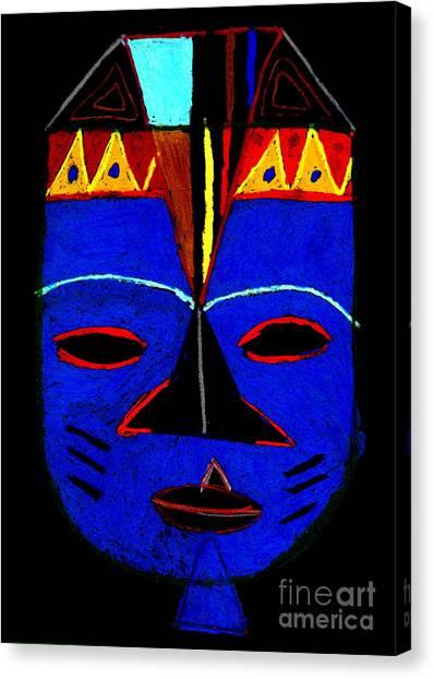 Blue Mask Canvas Print
