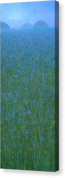 Blue Meadow 1 Canvas Print