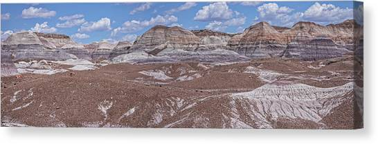 Blue Mesa At The Petrified Forest National Park Canvas Print
