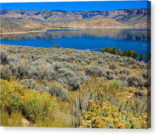 Blue Mesa Reservoir 1 Canvas Print