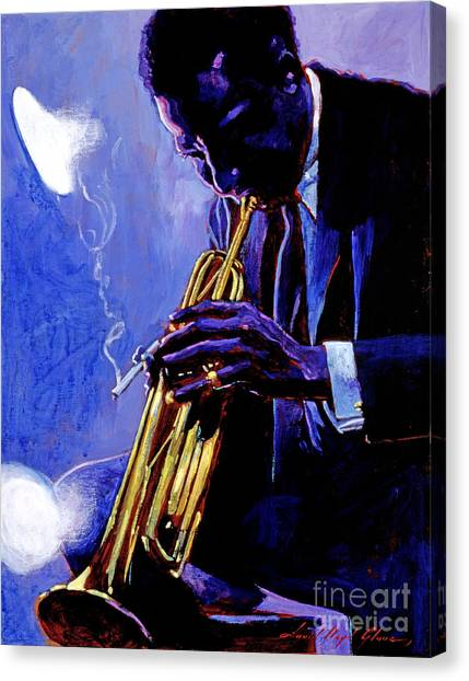 Trumpets Canvas Print - Blue Miles by David Lloyd Glover