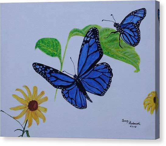 Blue Monarch Canvas Print