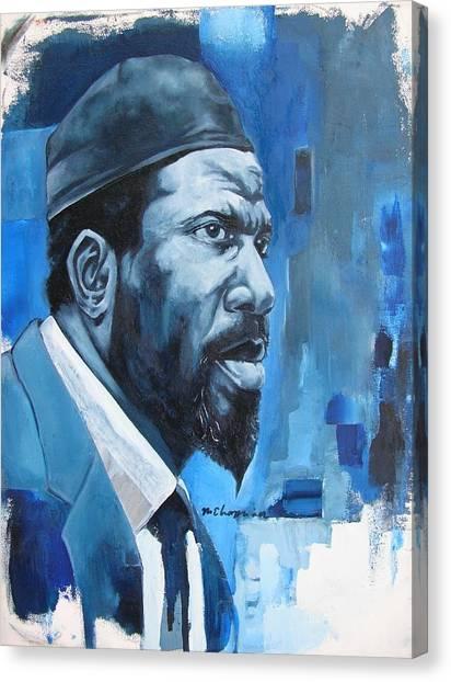 Blue Monk Canvas Print by Martel Chapman