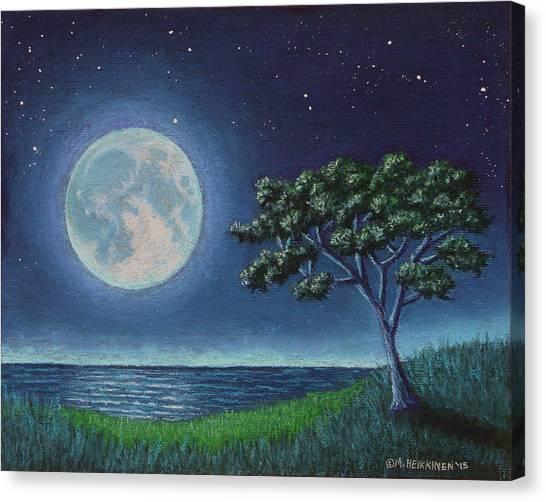 Blue Moon 01 Canvas Print